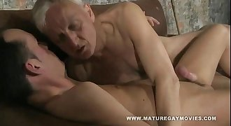 Hot youthfull lad gets fucked by mature daddy