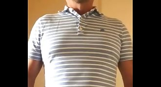 HOT DADDY JERKING BIG UNCUT COCK AND LOW HANGING Nutsack