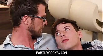 BIG dick dad seduces step son and lick his anus-FAMILYCOCKS.COM