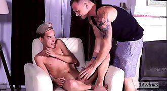 Young wanker Loic Miller fucked as a toy by Chris Loan